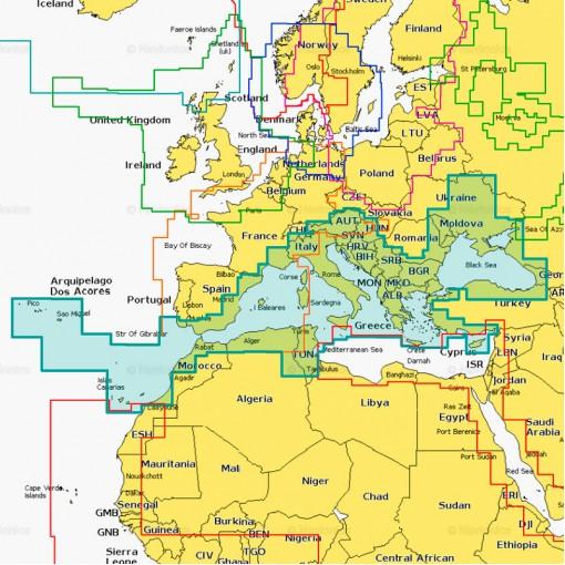 43XG Mediterranean & BLACK SEA 2Гб - Средиземное, Черное, Азовское моря, о-ва Канарские, Азорские и Мадейра