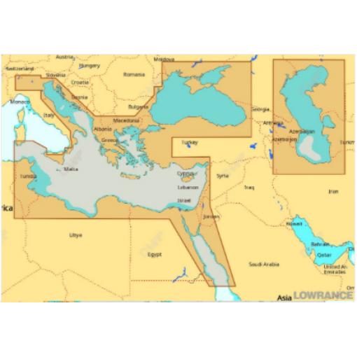 Восточная часть Средиземного моря, Чёрное и Каспийское моря